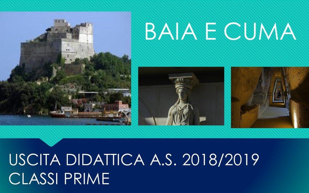 Uscita didattica classi prime-Castello Baia e sito archeologico Cuma